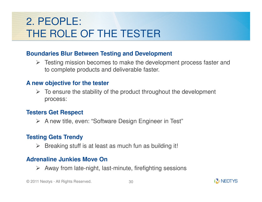 2. PEOPLE: THE ROLE OF THE TESTER Boundaries Bl...