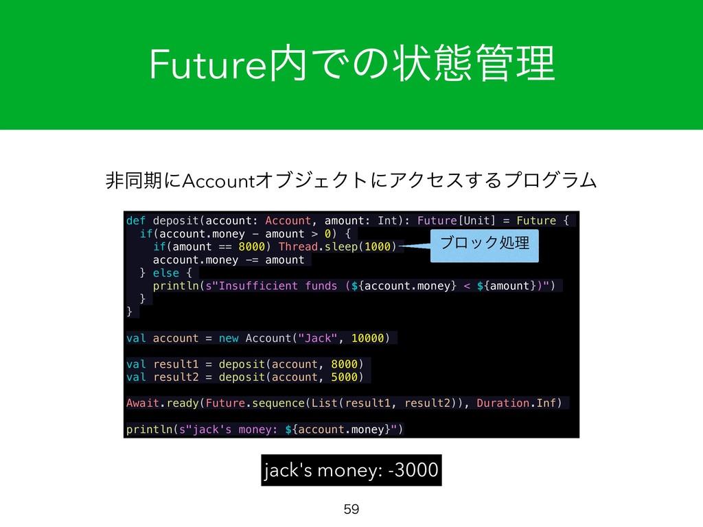 FutureͰͷঢ়ଶཧ  def deposit(account: Account, ...