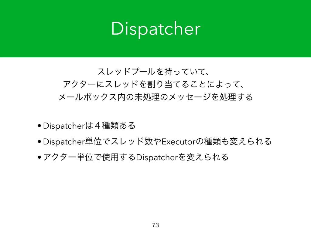 Dispatcher  εϨουϓʔϧΛ͍ͬͯͯɺ ΞΫλʔʹεϨουΛׂΓͯΔ͜ͱʹ...