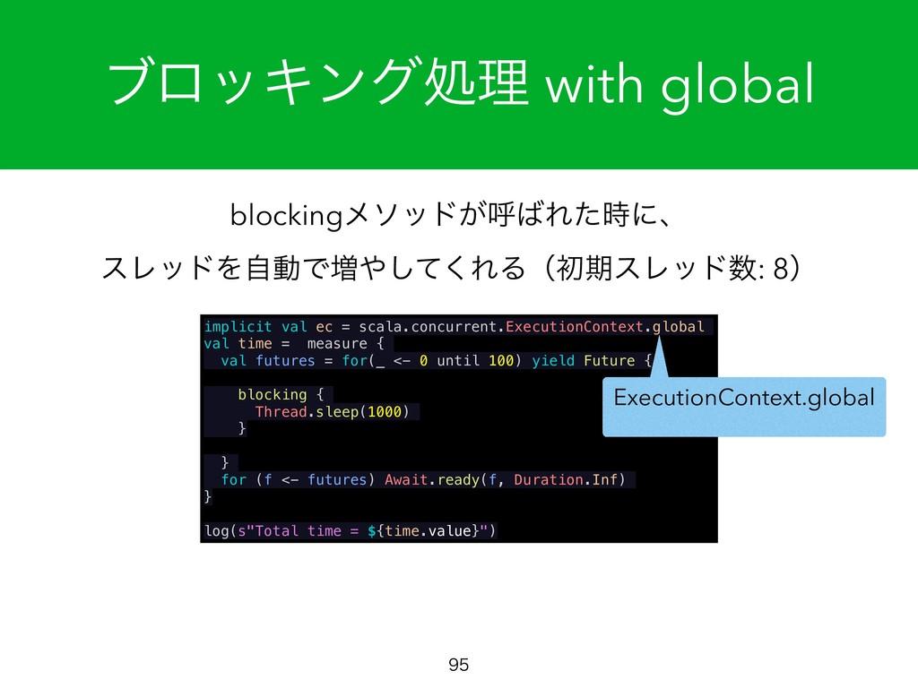 ϒϩοΩϯάॲཧ with global  blockingϝιου͕ݺΕͨʹɺ εϨ...