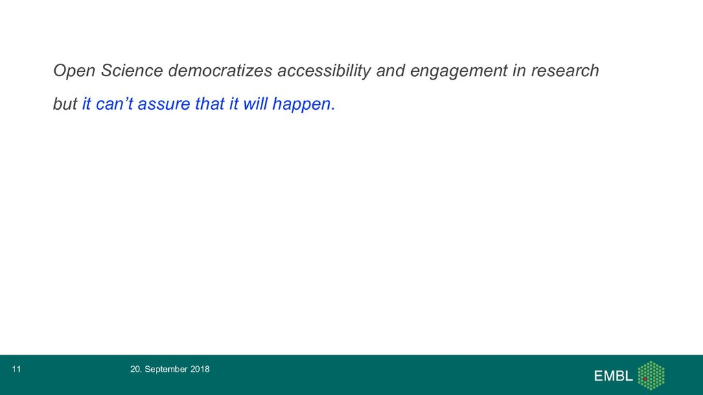 Open Science democratizes accessibility and eng...