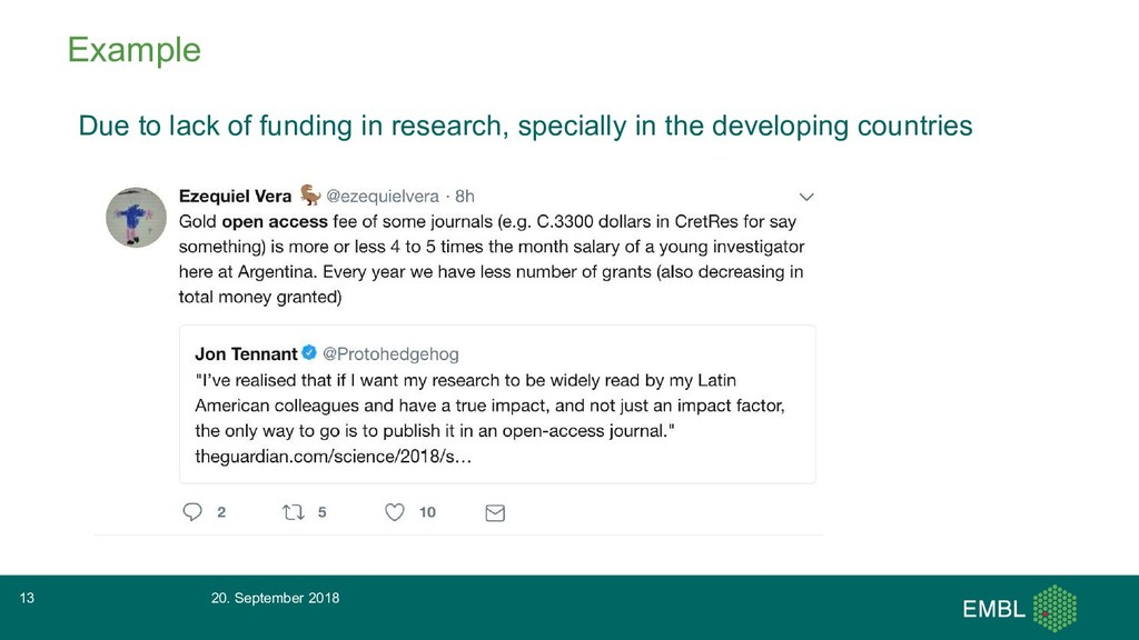 Example Due to lack of funding in research, spe...