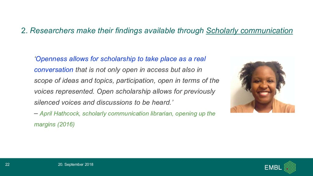 'Openness allows for scholarship to take place ...