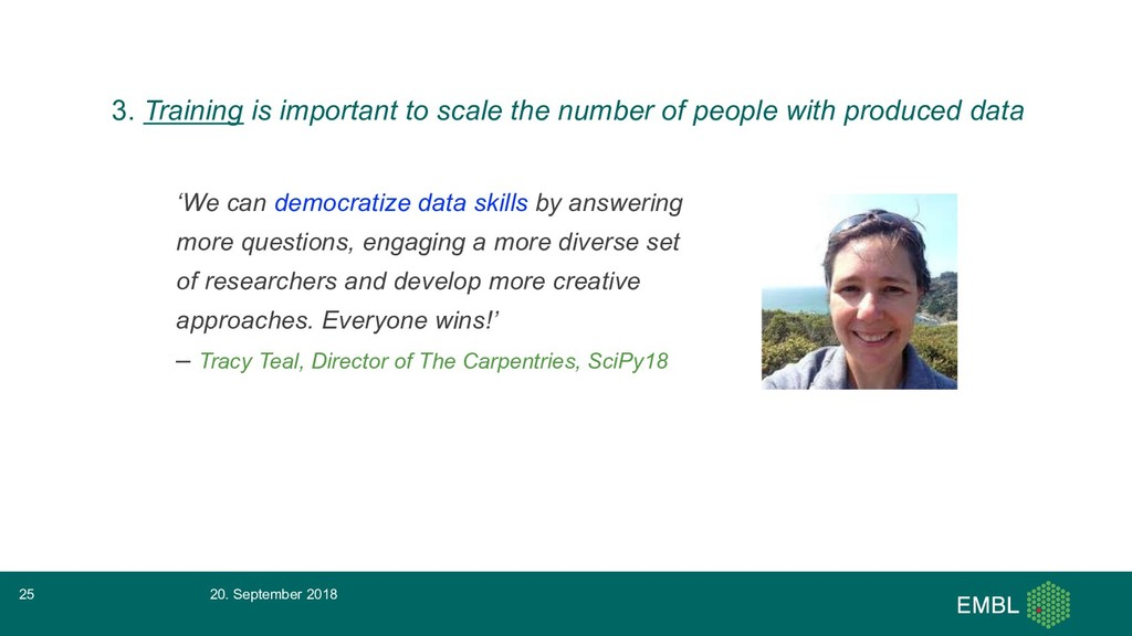 'We can democratize data skills by answering mo...