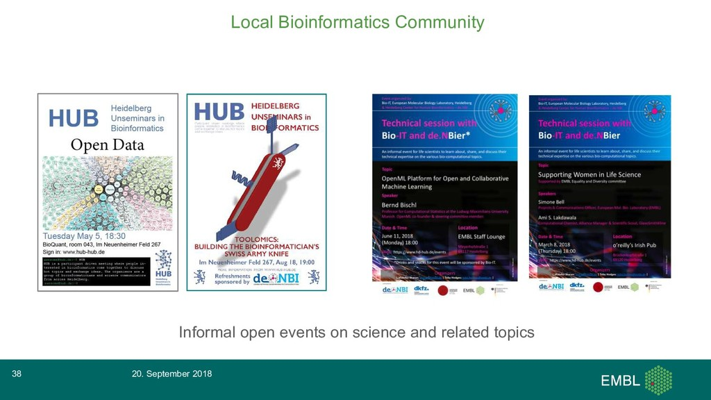 Local Bioinformatics Community Informal open ev...