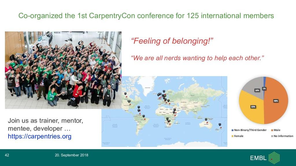 Co-organized the 1st CarpentryCon conference fo...