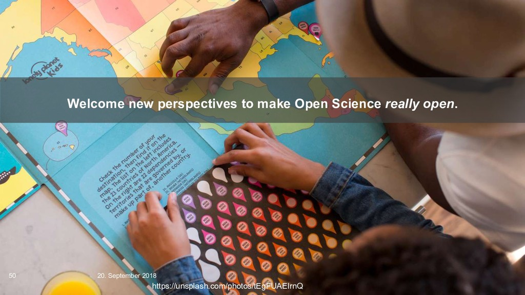 Welcome new perspectives to make Open Science r...