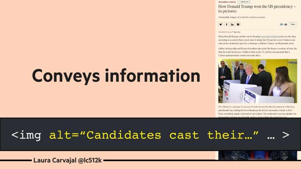 Laura Carvajal @lc512k Conveys information <img...