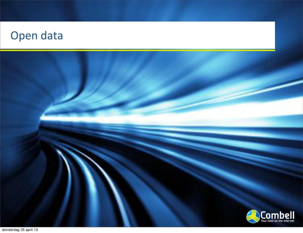 Open%data donderdag 25 april 13