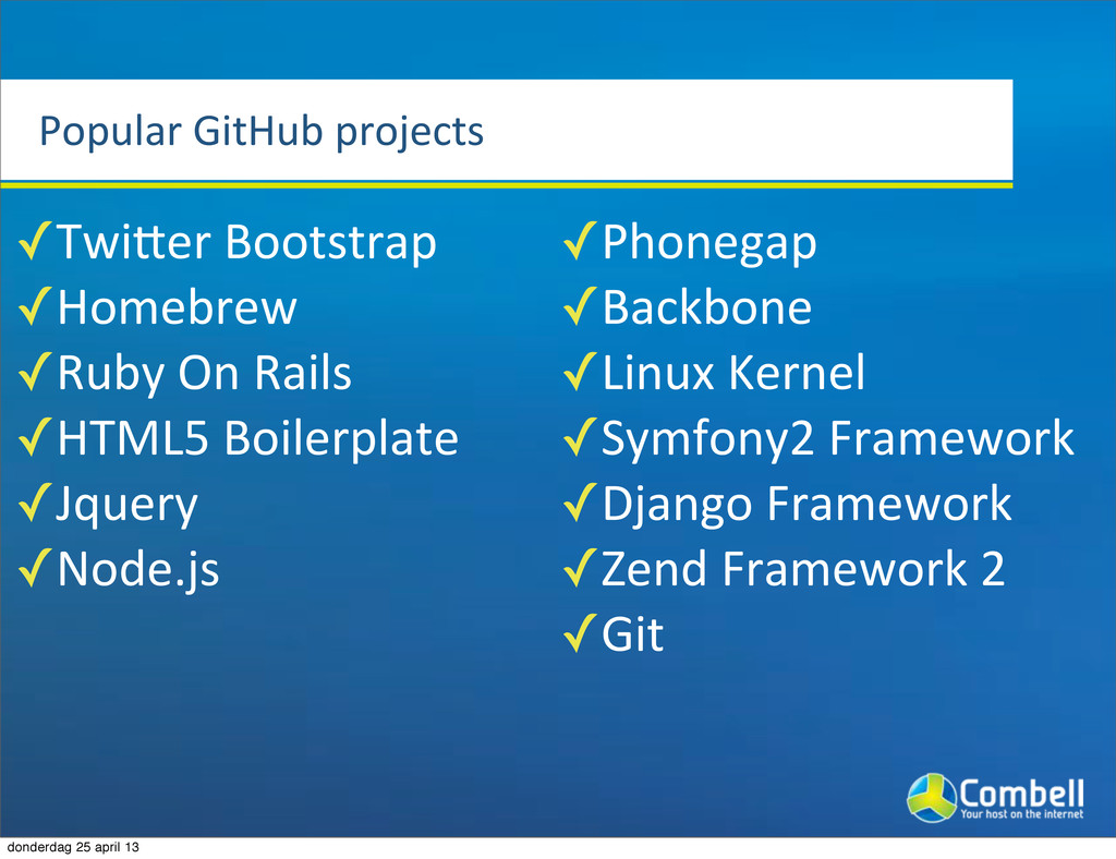 Popular%GitHub%projects ✓Twicer%Bootstrap ✓Home...
