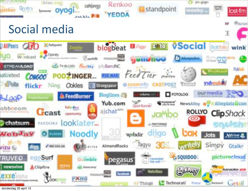 Social%media donderdag 25 april 13