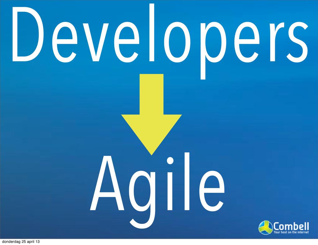 Developers Agile donderdag 25 april 13