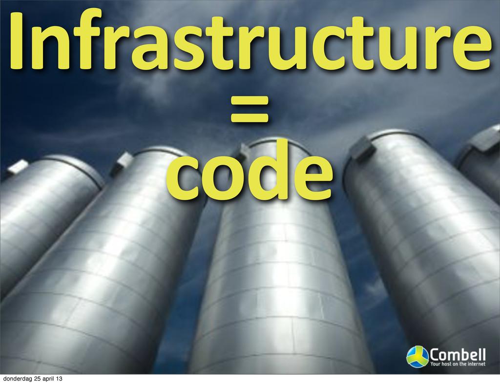 Infrastructure9 =9 code donderdag 25 april 13