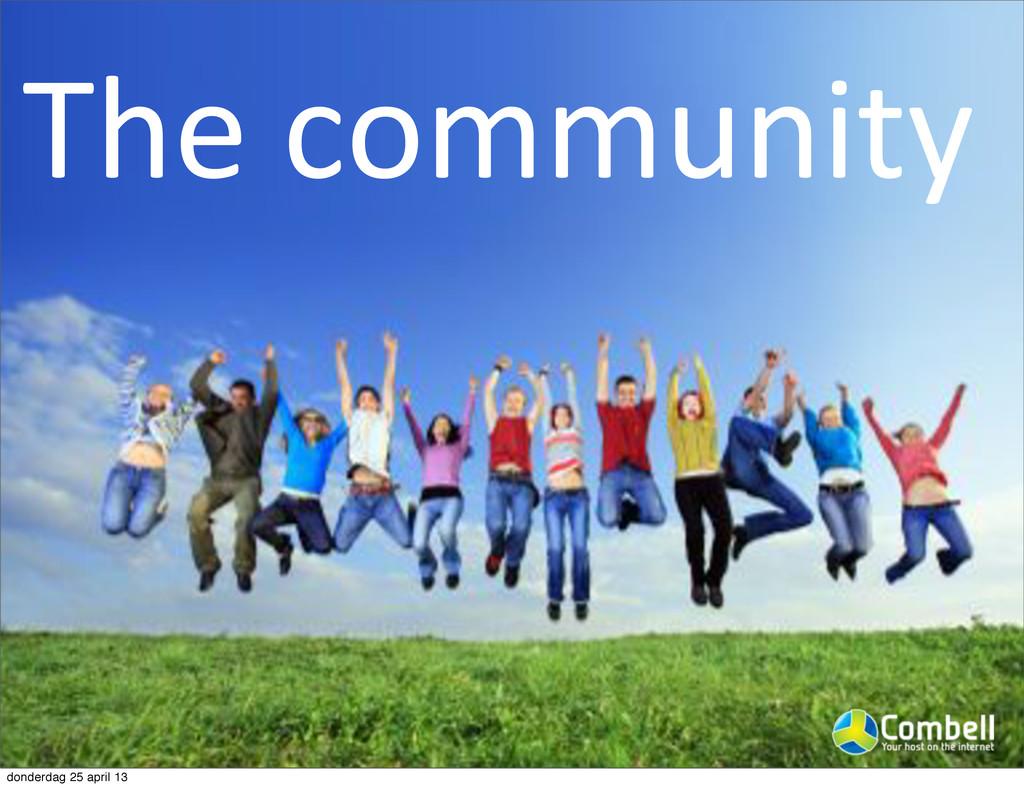 The%community donderdag 25 april 13