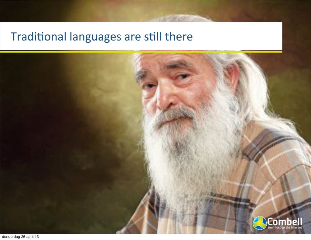 TradiTonal%languages%are%sTll%there donderdag 2...