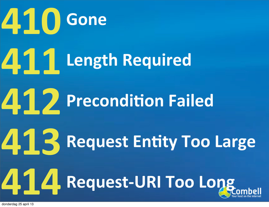 410 411 412 413 414 Gone Length9Required Precon...