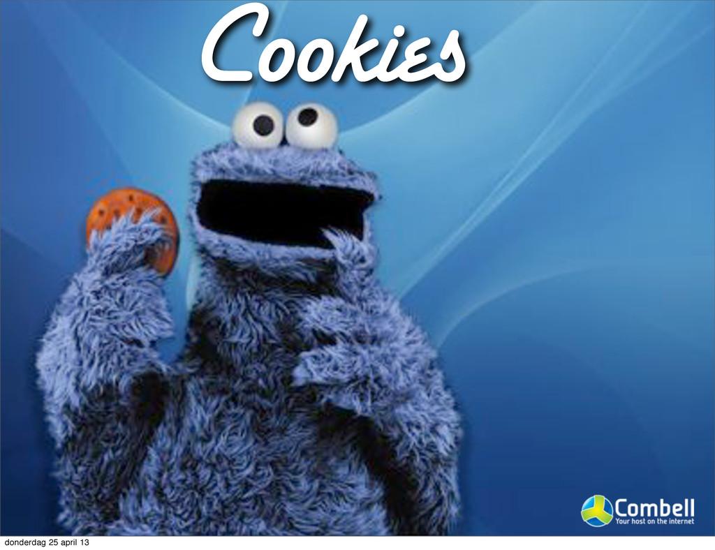 Cookies donderdag 25 april 13