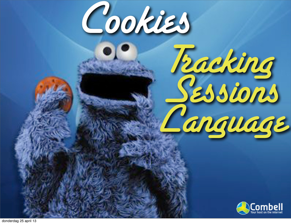 Cookies Tracking Sessions Language donderdag 25...