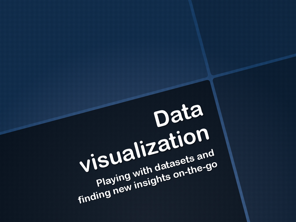 Data visualization Playing with datasets and fi...