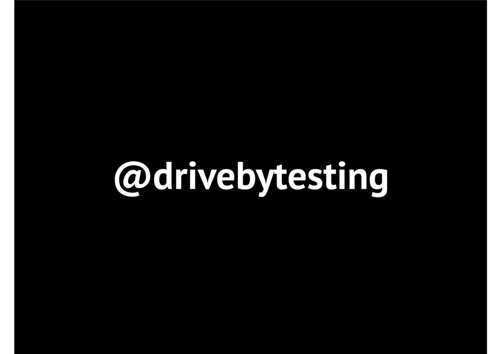 @drivebytesting