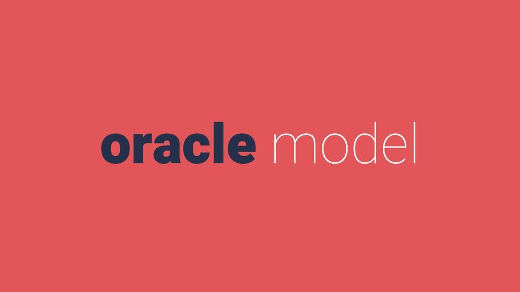 oracle model