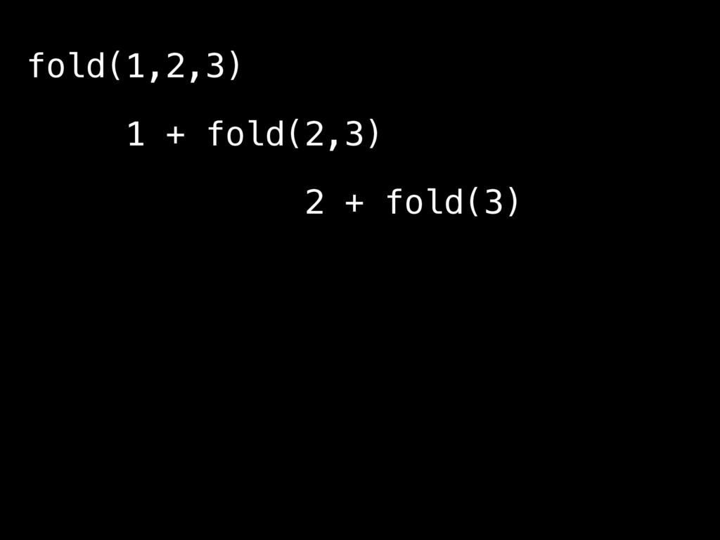 fold(1,2,3) 1 + fold(2,3) 2 + fold(3) 3 + fold(...