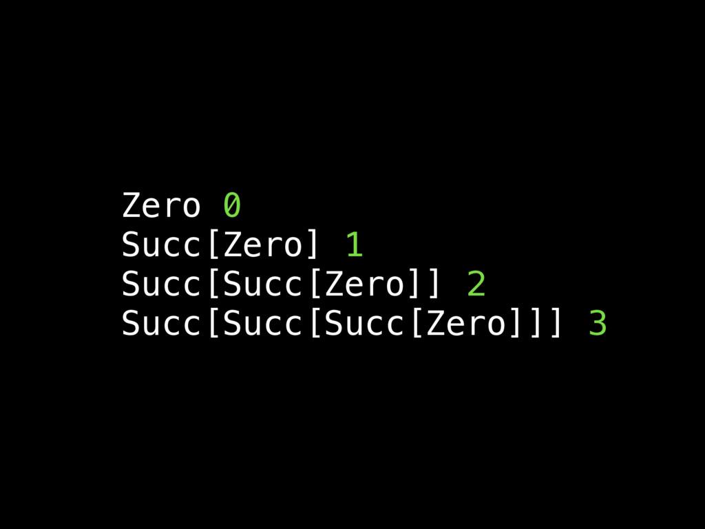 Zero 0 Succ[Zero] 1 Succ[Succ[Zero]] 2 Succ[Suc...