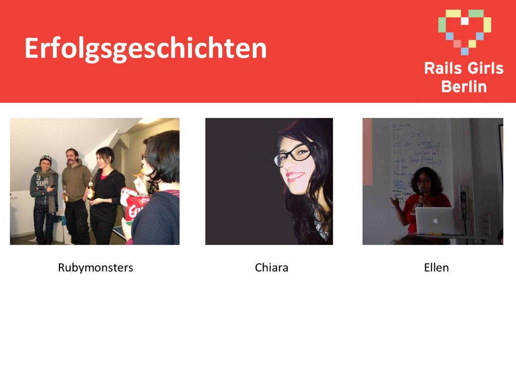 Erfolgsgeschichten  Rubymonsters  Chiara...