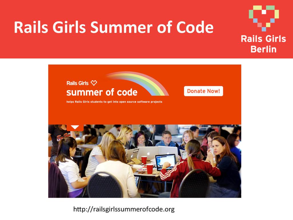 Rails Girls Summer of Code  h@p:...
