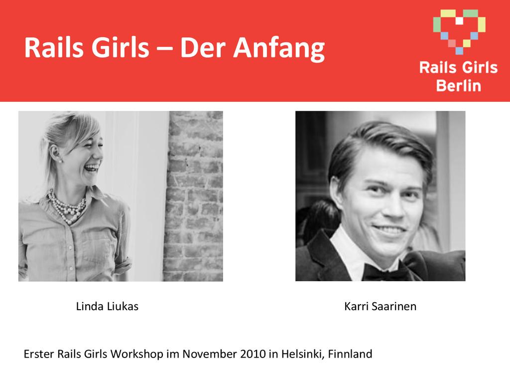 Rails Girls – Der Anfang  Linda...