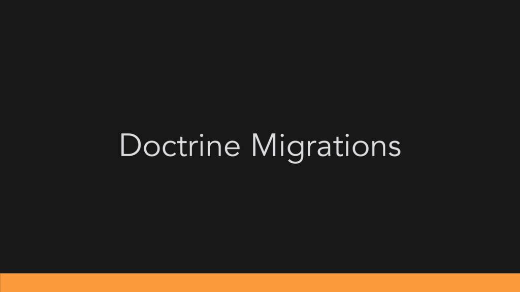 Doctrine Migrations