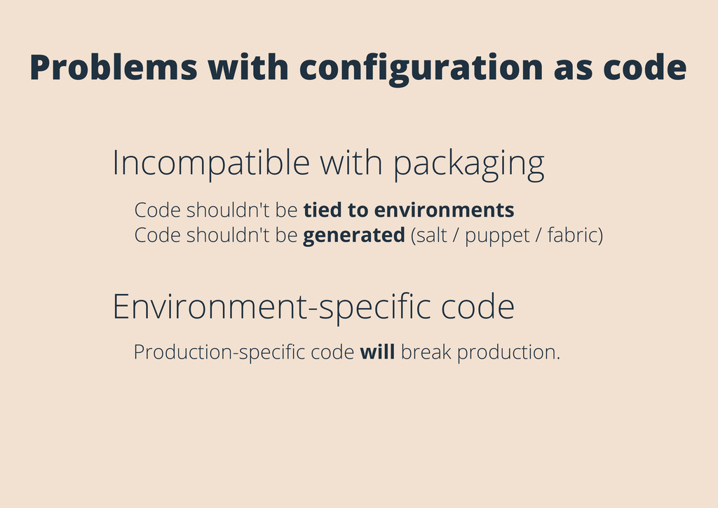 Problems with configuration as code Incompatible...