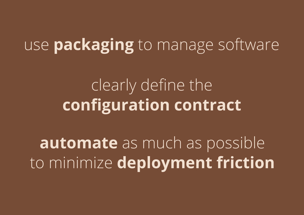 use packaging to manage software clearly define ...