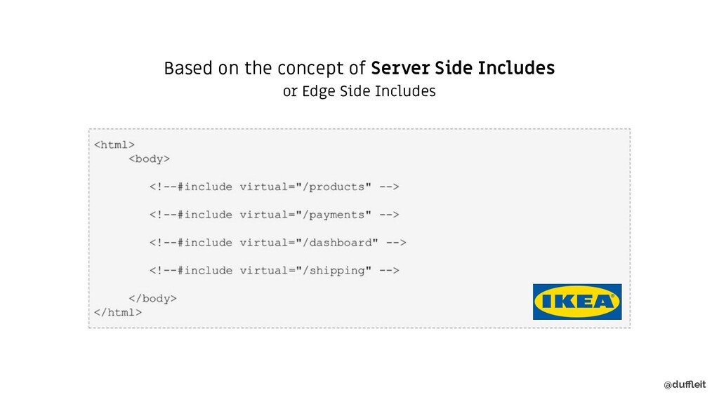 @duffleit Based on the concept of Server Side Inc...