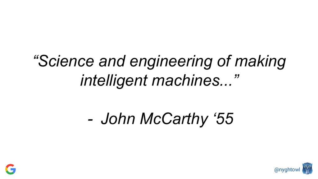"""@nyghtowl """"Science and engineering of making in..."""