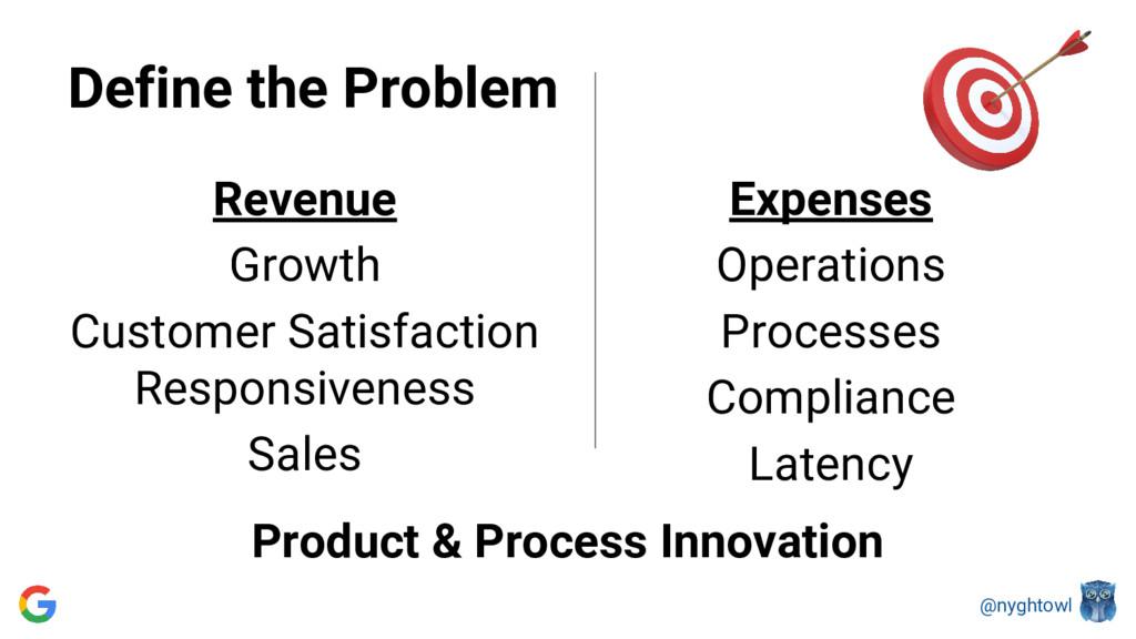 @nyghtowl Define the Problem Revenue Growth Cus...