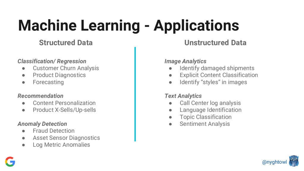 @nyghtowl Structured Data Classification/ Regre...