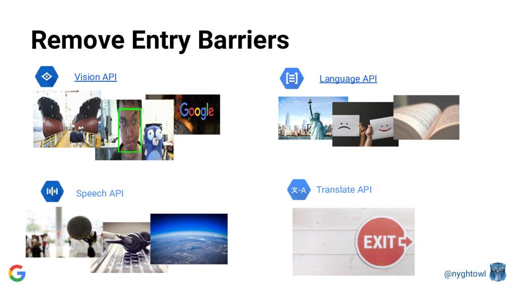 @nyghtowl Language API Vision API Translate API...