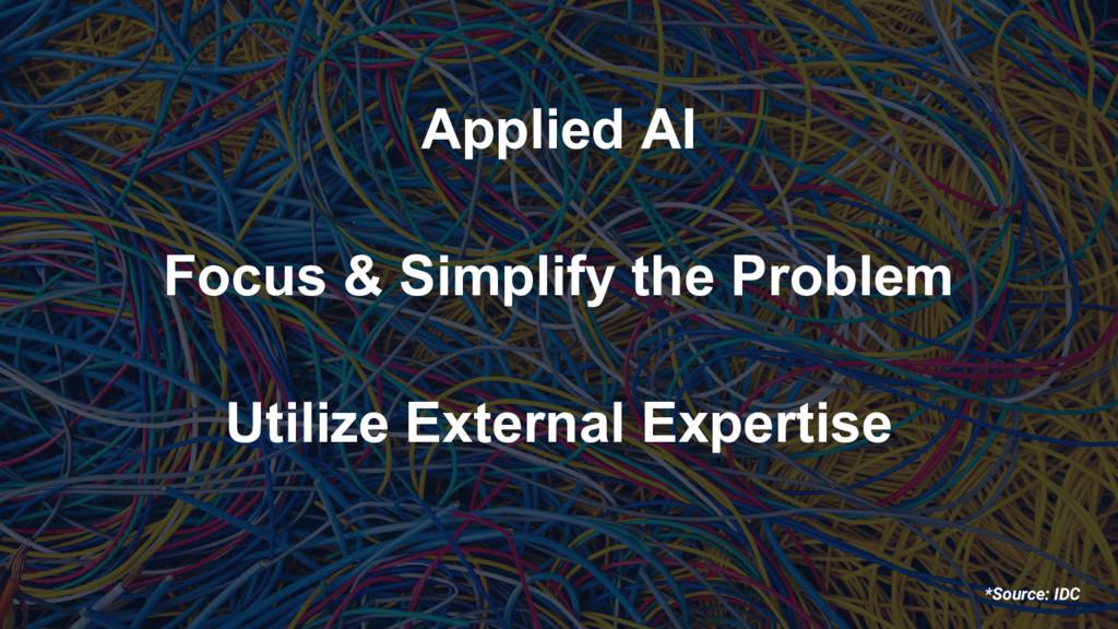 *Source: IDC Applied AI Focus & Simplify the Pr...
