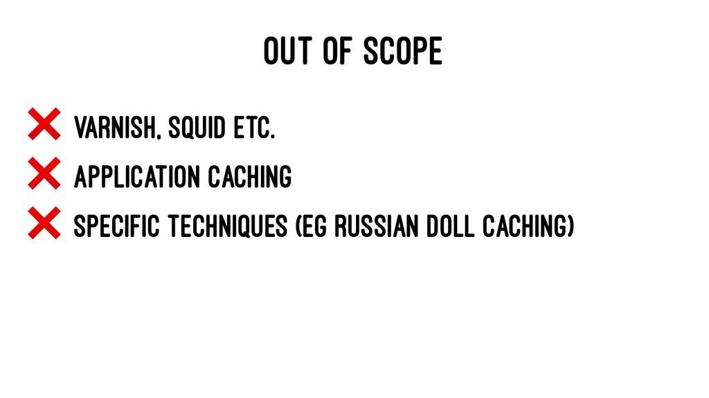OUT OF SCOPE ❌ Varnish, Squid etc. ❌ Applicatio...