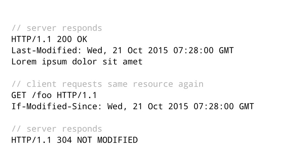 // server responds HTTP/1.1 200 OK Last-Modifie...