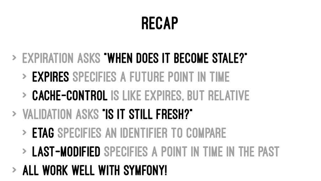 "RECAP > Expiration asks ""When does it become st..."