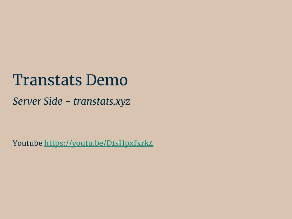 Transtats Demo Server Side - transtats.xyz Yout...
