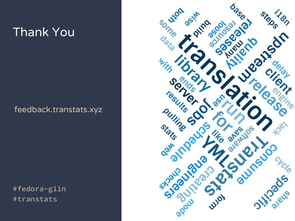 Thank You #fedora-g11n #transtats feedback.tran...