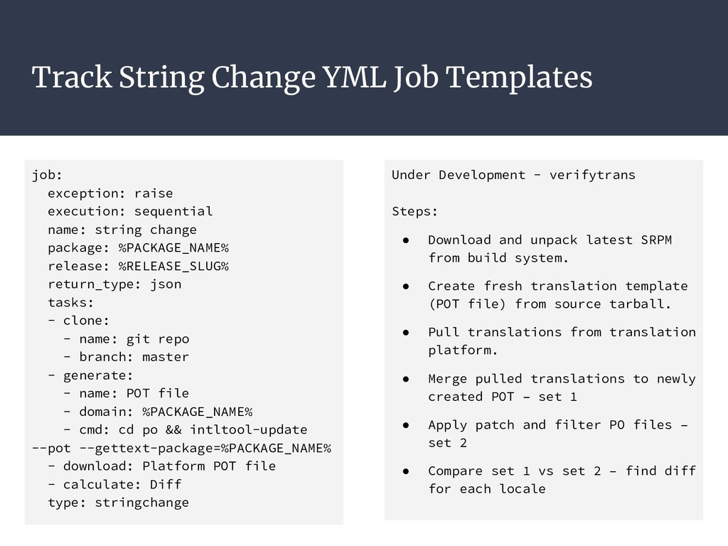 Track String Change YML Job Templates job: exce...