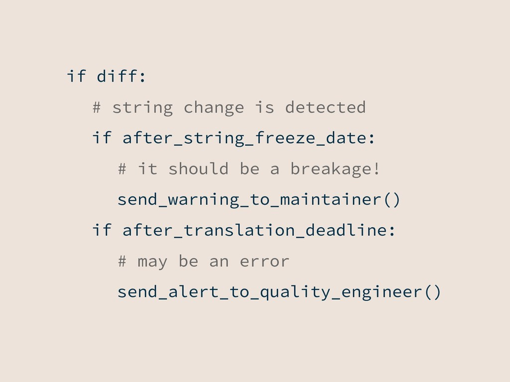 if diff: # string change is detected if after_s...