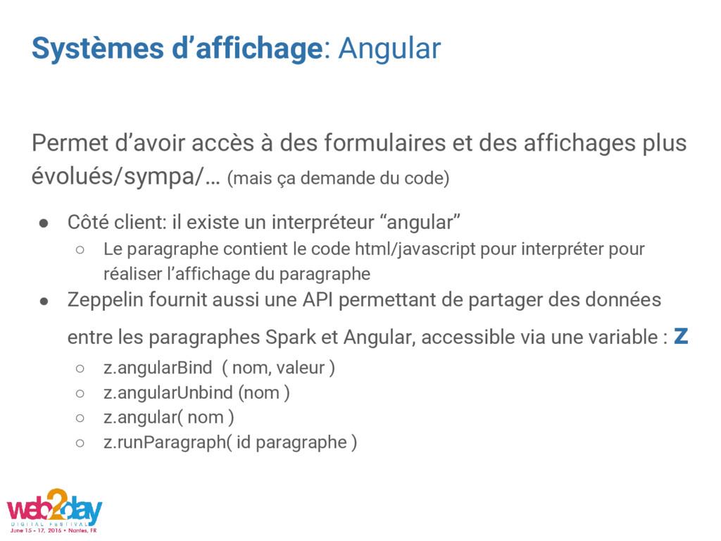 Systèmes d'affichage: Angular Permet d'avoir ac...