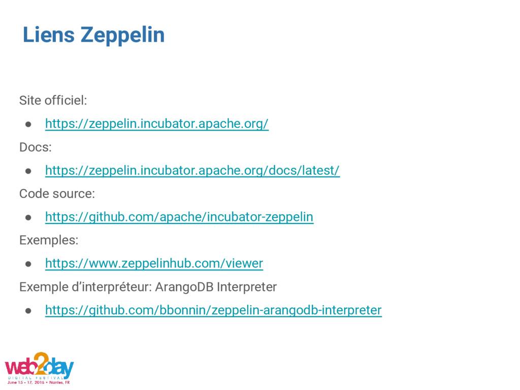 Liens Zeppelin Site officiel: ● https://zeppeli...