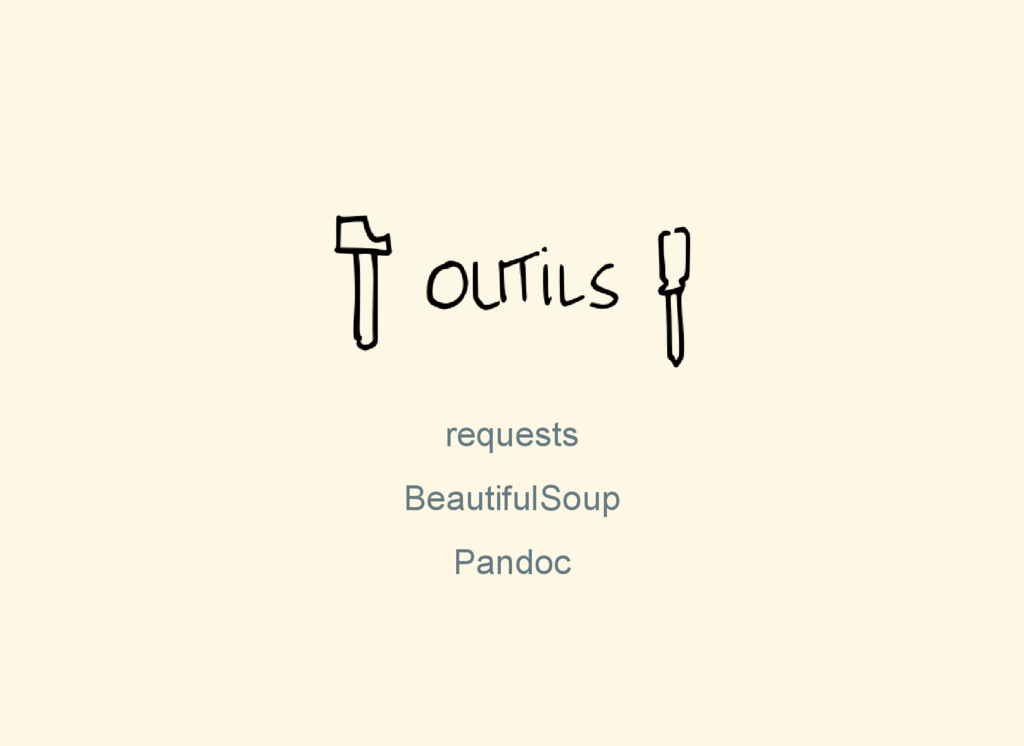 requests BeautifulSoup Pandoc