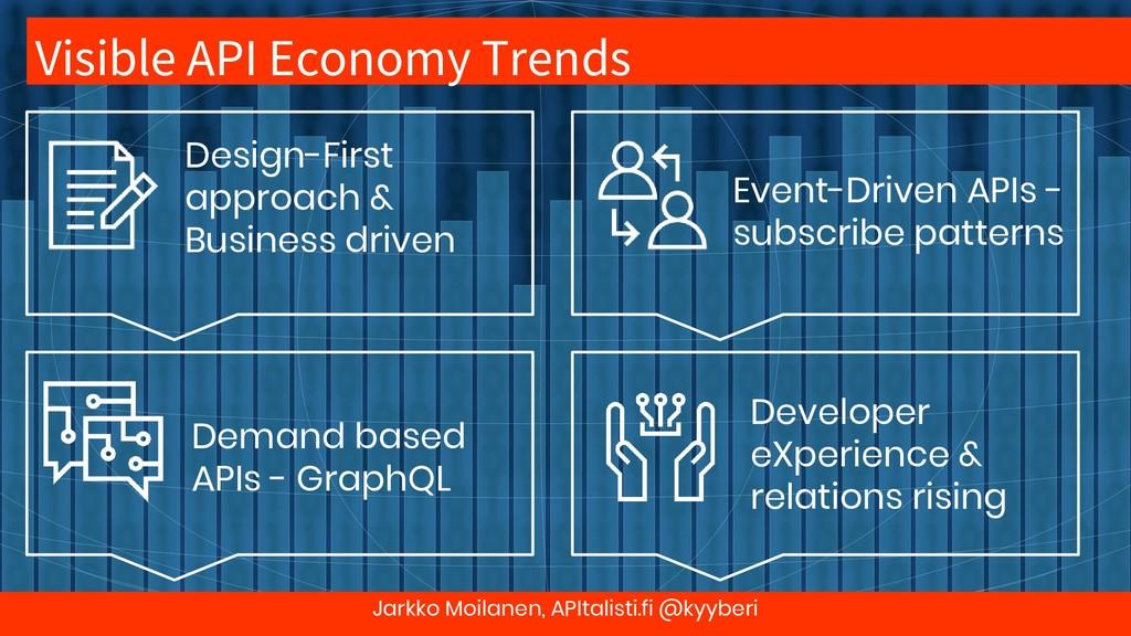 Visible API Economy Trends Jarkko Moilanen, API...
